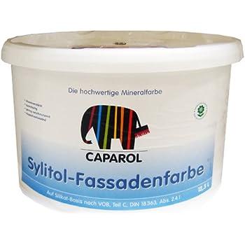 caparol sylitol fassadenfarbe 12 5 liter wei. Black Bedroom Furniture Sets. Home Design Ideas