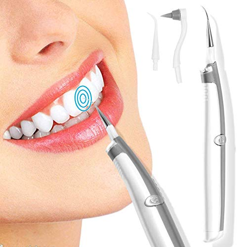 Qwhome Zahnpolier-Kit, 3 In 1Electric Zahnsteinentferner Zahnfleckenentferner Radiergummi Zahnaufheller Zahnaufheller Mit LED-Licht Für Zähne