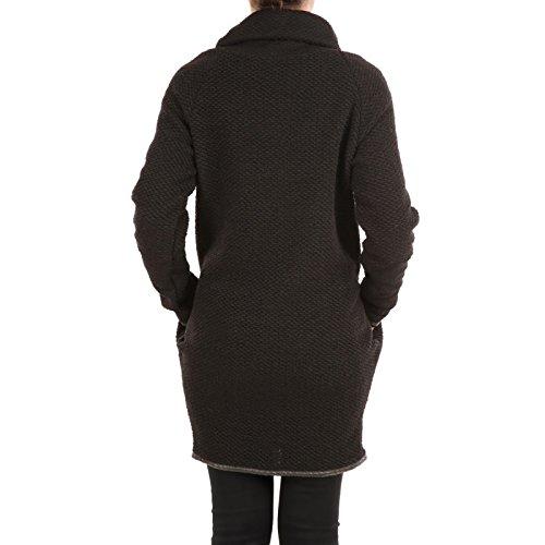 La Modeuse - Long gilet chaud et confortable Noir