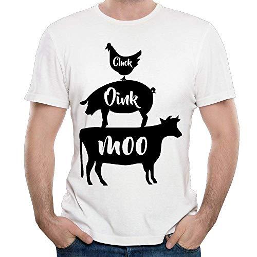 ette Huhn Schwein Kuh Top Herren Kurzarm T-Shirt Sommer Kostüm Herren Top XXL ()