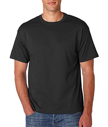 Hanes Adult ComfortBlend Eco Smart Crewneck Hem T-Shirt Black