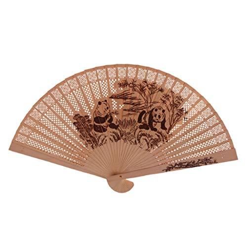 Splrit-MAN Bambus Fächer Handfaecher chinesische Dekorfächer, Retro-Fächer, Tanzfächer DIY malen Hochzeitsfeier gefallen Bambus Fan Kinder Faltbar Faecher