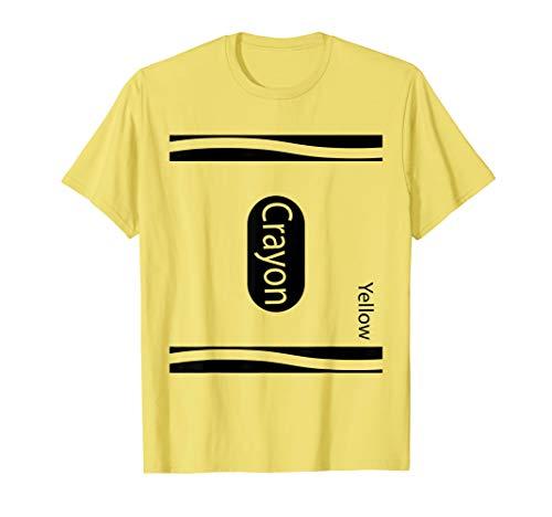 Gelber Zeichenstift-Halloween-Paar-Freund-Gruppen-Kostüm T-Shirt
