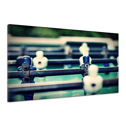 Kicker Tisch Figuren Spieler Spielfeld Tor Leinwand Poster Druck Bild aa0586 60x40