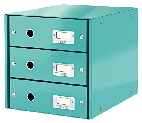 Leitz, Schubladenbox, Eisblau, 3 Schubladen, A4, Click & Store, 60480051