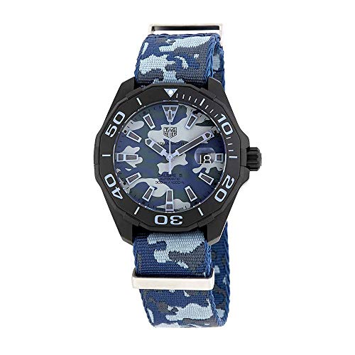 Tag Heuer Aquaracer blu camouflage quadrante orologio automatico uomo WAY208D.FC8221
