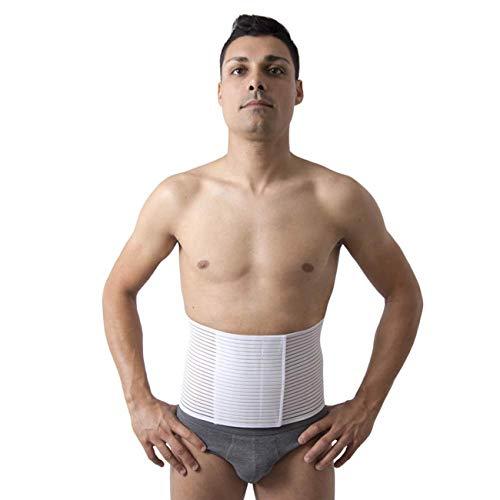 Beman® - fascia pancera elastica ombelicale millerighe unisex uomo donna post operatoria elasticizzata a strappo altezza 20 cm - art.5064 - bianco, xxxl (circonferenza girovita 130-140 cm)