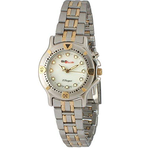 Peugeot donna Glow in the Dark Two Tone Bracelet Watch