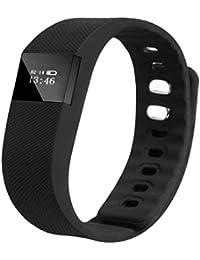 Amison Bracelet Intelligent LED Bluetooth Montre de Sport avec Podomètre Sommeil Surveillance Smart Bracelet Wristband pour Téléphones Android Noir