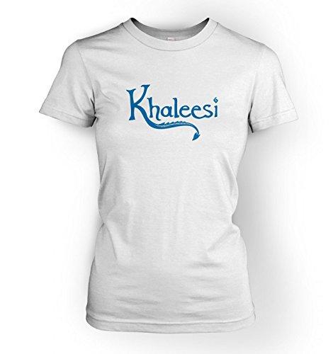 WoHerren Khaleesi t-shirt (blue) - inspired by Game of Thrones Weiß