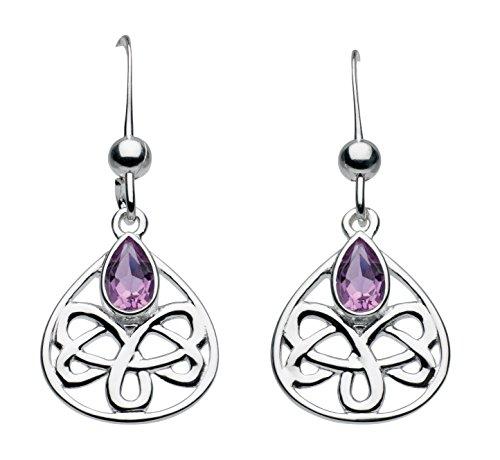 heritageboucles-doreilles-925-1000-argent-poire-amethyste-violet-femme