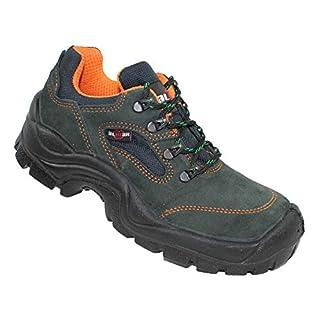 Almar 54075 S1P SRC Work Shoes Stock Shoes Flat Green B-Ware, Size:41 EU