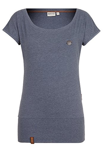 Naketano Female Shortsleeve Wolle X Dark Ash Melange, XL (Wolle T-shirt Kurzarm)