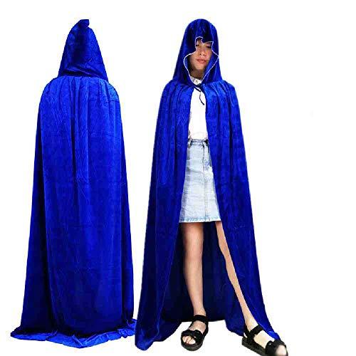 OLUYNG Gothic mit Kapuze Fleck Mantel Wicca Robe Hexe LARP Cape Frauen Männer Halloween Kostüme Vampire Fancy Party