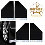 #3: Adroitz Sparco Racing Style Rubberized Car Mudflaps for Aspire - Black - Set of 4