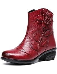 Mujer Y Botas Piel Zapatos Amazon es Para Con WH6TRWqc0