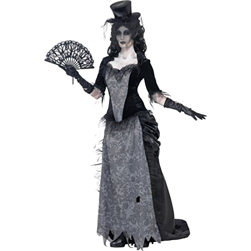 kostüm Geist Kostüm M 40/42 Gothic Zombie Geisterkostüm Geister Frau Halloweenkostüm Gespenst Faschingskostüm Halloween Horrorkostüm Karneval Kostüme Damen (Schwarze Witwe-frau)