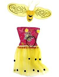 4-7 Jahre BIENE Kostüm + Flügel Kinder Verkleidung Karneval Kinderkostüm Set