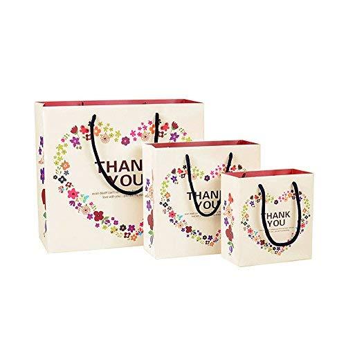 Aibada Papiertüten mit Herz-Motiv, für Geburtstage, Partys, Hochzeiten, Urlaub, 30 x 26 x 12 cm, 6 Stück