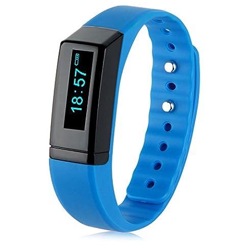 Padgene Fitness Sport SmartWatch Armbanduhr Schrittzähler Kalorienzähler Bracelet für Android iOS (Blau)