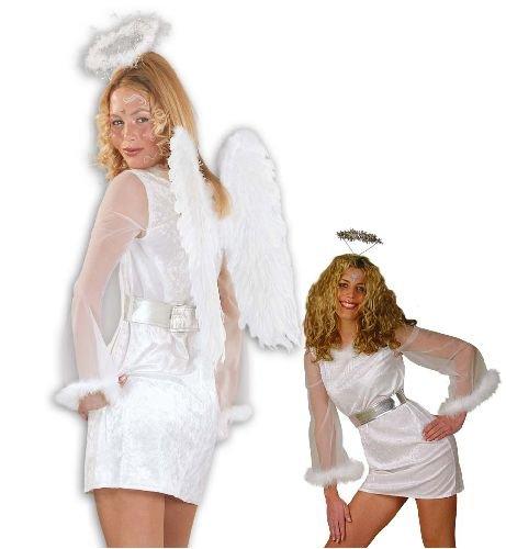 Engel Angel Damen Kostüm Engelkostüm m.Gürtel Gr 42
