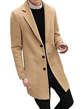 Ropa de abrigo para hombre, RETUROM Hombres más el tamaño formal de pecho único figura larga capa