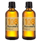 Naissance Aceite Esencial de Romero n. º 108 - 200ml (2x100ml) - 100% Puro, vegano y no OGM