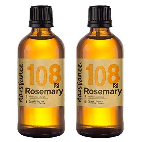 Naissance Aceite Esencial de Romero n. º 108 - 200ml 2x100ml - 100% Puro, vegano y no OGM