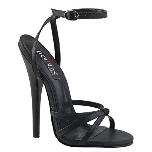 Talons Hauts - Chaussures Avec Bride À La Cheville Femme Noir Mat