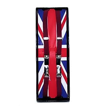 Bretelles de pantalon classique 12 mm - Bordeaux