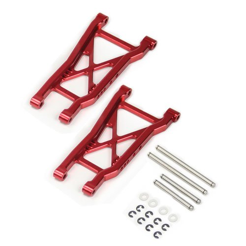 Atomik RC Alloy Rear Lower Arm, Red fits The Traxxas 1/10 Slash and Other Traxxas Models - Replaces Traxxas Part 2555