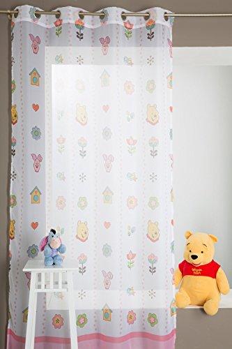 Visillo Infantil Winnie Pooh 140 x 280 cm Rosa