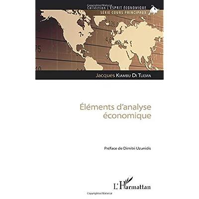 Eléments d'analyse économique