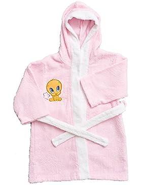Accappatoio bambina Looney tunes bimba da 1 a 6 anni rosa *13152