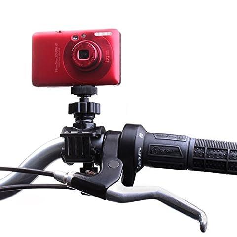 Verstellbare Lenkerhalterung für Action Cam für Fahrrad , Motorrad und weitere Fahrzeuge mit Lenkerdurchmesser bis zu 30 cm , geht mit GoPro HERO4 , QUMOX SJ4000 , DBPOWER HD 1080 , icefox , mehr