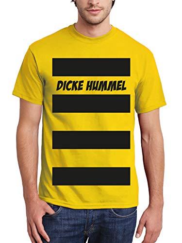 clothinx Herren T-Shirt Karneval 2019 Dicke Hummel Kostüm Gelb Größe 3XL -