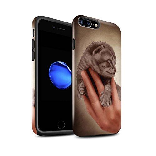 Officiel Elena Dudina Coque / Brillant Robuste Antichoc Etui pour Apple iPhone 8 Plus / Félins/Léopard/Guerrier Design / Les Animaux Collection Minou/Voir