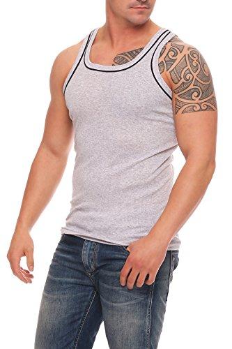 4, 6 oder 12 Stück dunkelfarbige Herren-Unterhemden Vollachsel Achselhemden super weich Feinripp Gr. 5 (M) - 12 (6XL) 6 Unterhemden Pack 4