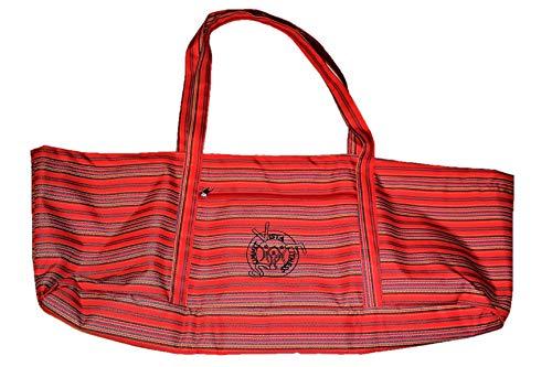 Summit Vista Fitness Yoga Matte Tasche Travel Bag mit Taschen Tote für Frauen Beach Bag für Damen und Herren, Korallenrot -
