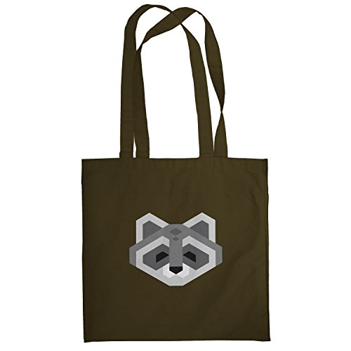 Texlab – Simple Raccoon – sacchetto di stoffa Marrone