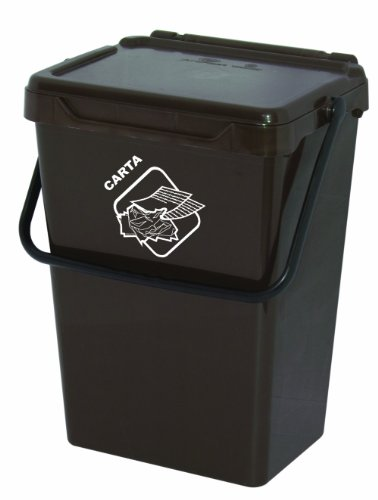 Art plast bs35/m cassonetto per la raccolta differenziata in plastica, marrone