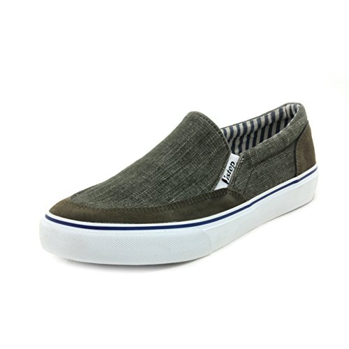 Bassa scarpe Autunno luce maschile/Scarpe casuale/ senza lacci agli studenti di tela-A Lunghezza piede=24.3CM(9.6Inch)
