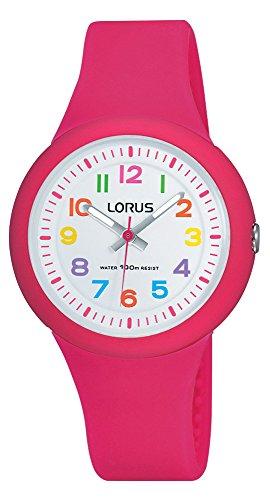 Lorus Filles Analogique Quartz Montre avec Bracelet en Silicone RRX49EX9