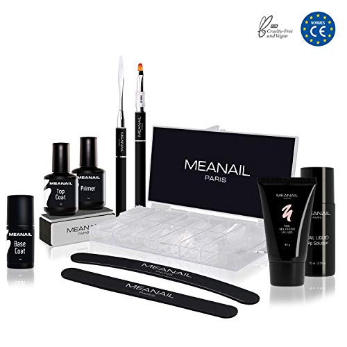 Kit recharge extension d'ongles ✦ Vernis à ongles & Lampe UV/LED 48W Sunshine - Recharge coffret Polygel - Cruelty free ✦ Méanail Paris