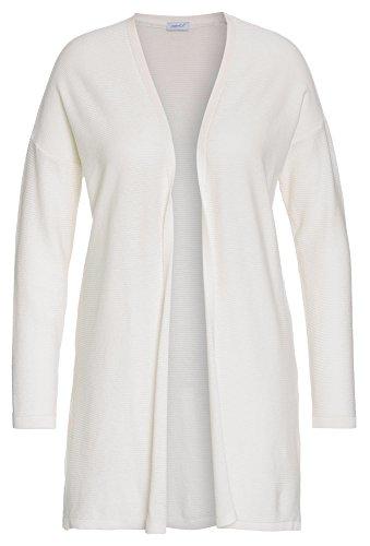 PEPPERMINT Plus Size - Damen-Cardigan Große Größen,Frauen,Strick-Jacke,offen,lang weiß,50 Plus Größe Weiße Jacke