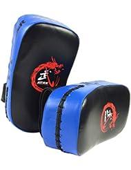 Piense Fuera Del Objetivo Forcus Perforación Del Cojín De Taekwondo MMA Training Gear Azul