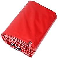 lonas Color rojo PVC Plus Thick Rain Fabric Protección solar a prueba de agua 11 tipos Tamaño se puede utilizar para almacenes Construction Trucks Fábricas y empresasGulf Pier (Tamaño : 4 x 6M)