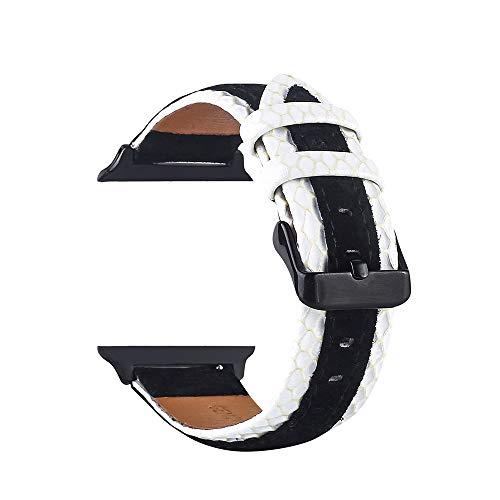 TianranRT Leder Handgelenk Uhr Strap Band Schnalle Gürtel Ersatz für IWatch Apple Watch (A, 42mm) -