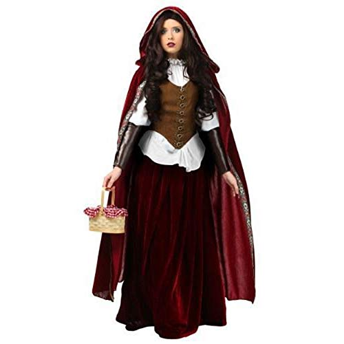 LVLUOYE Halloween Märchen, Castle Queen Performance Uniform, Christmas Little Red Riding Hood Kostüm,XL