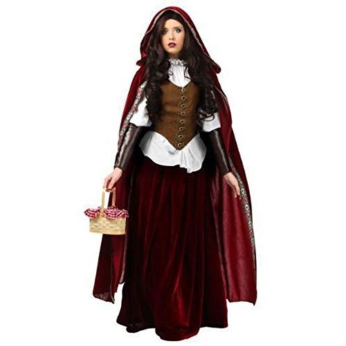 LVLUOYE Halloween Märchen, Castle Queen Performance Uniform, Christmas Little Red Riding Hood ()